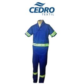 Conjunto c/ Refletivo Calça e Jaleco Manga Curta Tecido Profissional Cedro – COR AZUL ROYAL
