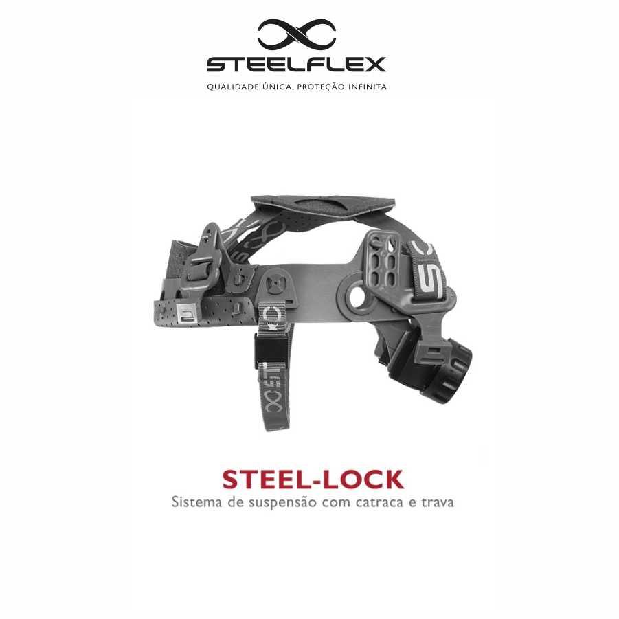 5a35c69670 SUSPENSÃO P/ CAPACETE STEELFLEX – TIPO CATRACA STEEL-LOCK – Suzano EPI