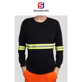 Camiseta manga longa em malha PV Com Refletivo