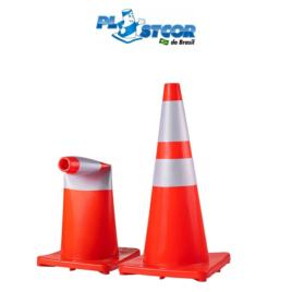Cone NBR 15071 Flexível e Refletivo Plastcor
