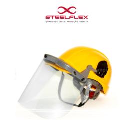 Protetor Facial Conjugado Com Capacete e Jugular Steelflex