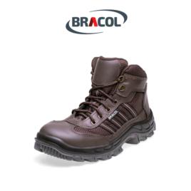 Botina Nobuck Bracol BLQ Premium Marrom Bico de PVC