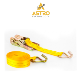 FITA C/ CATRACA P/ 1 TONELADA – AMARELA – 2 METROS X 30MM – ASTRO