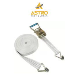 FITA C/ CATRACA P/ 1.5 TONELADA – BRANCA – 9 METROS X 50MM – ASTRO