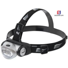 Lanterna Cabeça Capacete Turbo 8 Led Forte Trekking Bike Ntk