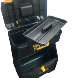 Caixa plástica para ferramentas monobloco com rodas 18″ da Stanley