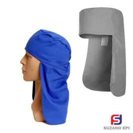 Touca Soldador Arabe Legionario Azul De Brim Proteção Sol